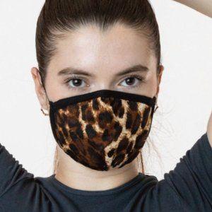 Los Angeles Apparel Face Mask animal print NEW